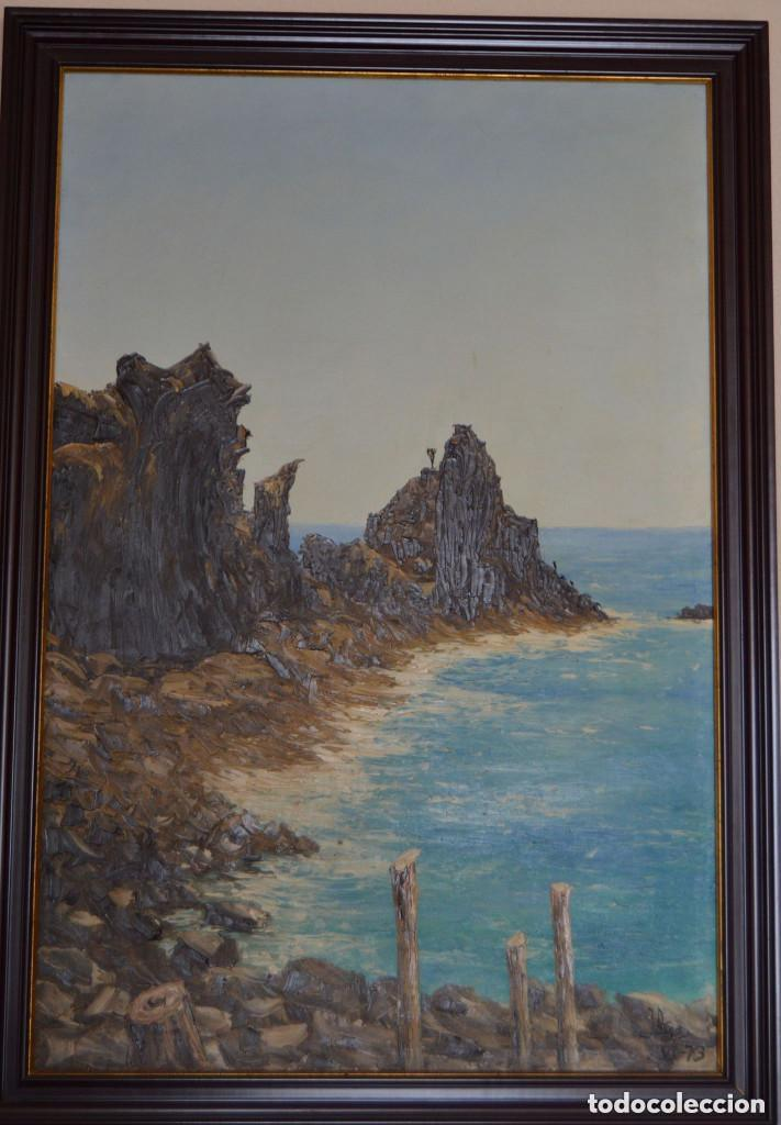 ÓLEO ORIGINAL DE J. ARGA - JOAQUIN ARACIL GARCÍA (Arte - Pintura - Pintura al Óleo Contemporánea )