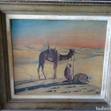Arte: CUADRO PINTADO AL OLEO SOBRE TABLA FIRMADO 70X62. Lote 79626018
