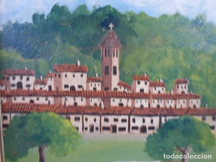 Arte: Antiguo cuadro, pintura al oleo, lavanderas. Firmado por Pérez Molina - Foto 5 - 79634277