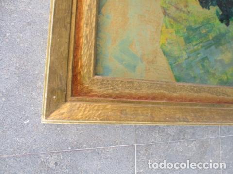 Arte: PAISAJE PINTADO EN TABLA FIRMADO,DEL ESCULTOR CATALA JAIME Perelló, año 1980 (ver fotos) - Foto 18 - 50988144