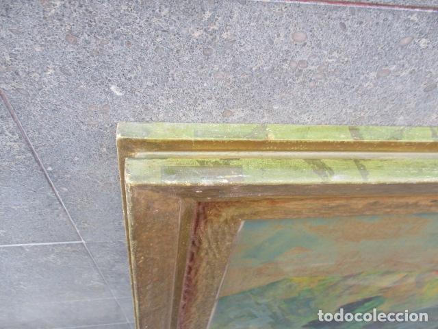 Arte: PAISAJE PINTADO EN TABLA FIRMADO,DEL ESCULTOR CATALA JAIME Perelló, año 1980 (ver fotos) - Foto 19 - 50988144
