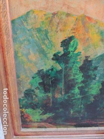 Arte: PAISAJE PINTADO EN TABLA FIRMADO,DEL ESCULTOR CATALA JAIME Perelló, año 1980 (ver fotos) - Foto 20 - 50988144