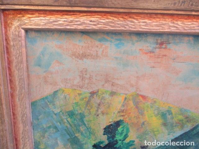 Arte: PAISAJE PINTADO EN TABLA FIRMADO,DEL ESCULTOR CATALA JAIME Perelló, año 1980 (ver fotos) - Foto 21 - 50988144