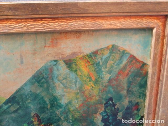 Arte: PAISAJE PINTADO EN TABLA FIRMADO,DEL ESCULTOR CATALA JAIME Perelló, año 1980 (ver fotos) - Foto 22 - 50988144