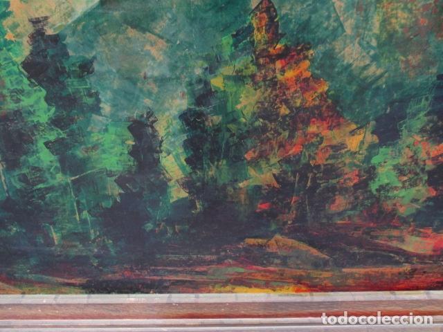 Arte: PAISAJE PINTADO EN TABLA FIRMADO,DEL ESCULTOR CATALA JAIME Perelló, año 1980 (ver fotos) - Foto 23 - 50988144
