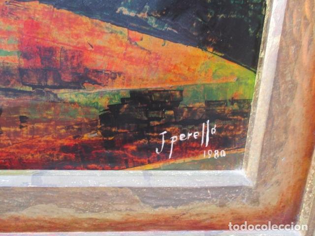Arte: PAISAJE PINTADO EN TABLA FIRMADO,DEL ESCULTOR CATALA JAIME Perelló, año 1980 (ver fotos) - Foto 25 - 50988144