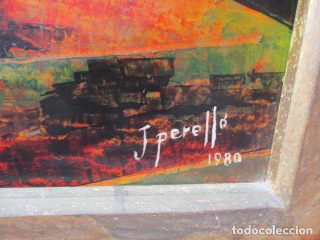 Arte: PAISAJE PINTADO EN TABLA FIRMADO,DEL ESCULTOR CATALA JAIME Perelló, año 1980 (ver fotos) - Foto 26 - 50988144