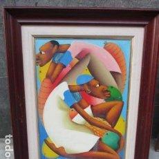 Arte: CUADR DE PINTURA AL OLEO SOBRE LIENZO CON ESCENA AFRICANA - FIRMADO POR CASIMIR. Lote 79668941