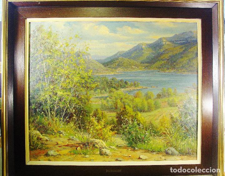 PANTÀ DE BOADELLA. JULI BATALLÉ I MURLÁ. ÓLEO SOBRE LIENZO. 62 X 75 CM. FIRMADO, FECHADO Y TITULADO. (Arte - Pintura - Pintura al Óleo Contemporánea )