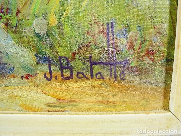Arte: PANTÀ DE BOADELLA. JULI BATALLÉ I MURLÁ. ÓLEO SOBRE LIENZO. 62 X 75 CM. FIRMADO, FECHADO Y TITULADO. - Foto 3 - 79709045