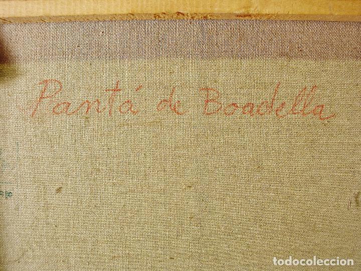 Arte: PANTÀ DE BOADELLA. JULI BATALLÉ I MURLÁ. ÓLEO SOBRE LIENZO. 62 X 75 CM. FIRMADO, FECHADO Y TITULADO. - Foto 11 - 79709045