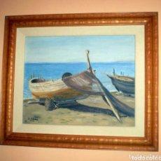 Arte: BELLISIMA MARINA DE P.LUZÓN 1958.. Lote 79748811