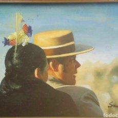 Arte: S. MIMON - EXTRAORDINARIA OBRA OLEO SOBRE TABLA. Lote 79777183
