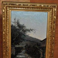 Arte: MANUEL RAMOS ARTAL (MADRID, 1855 - MADRID, CIRCA 1916) OLEO SOBRE TELA. PAISAJE. Lote 79822353