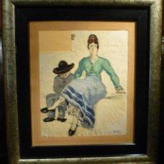 Arte: PAREJA DESIGUAL POR RICARD OPISSO (1880-1966). Lote 79865873