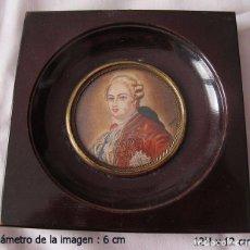 Arte: MINIATURA ANTIGUA SOBRE MARFIL LUIS XVI FIRMADA. Lote 80130681
