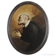 Arte: IMPRESIONANTE ÓLEO BARROCO ITALIANO DEL SIGLO XVII REPRESENTANDO A SAN FELIPE NERI. Lote 74376398