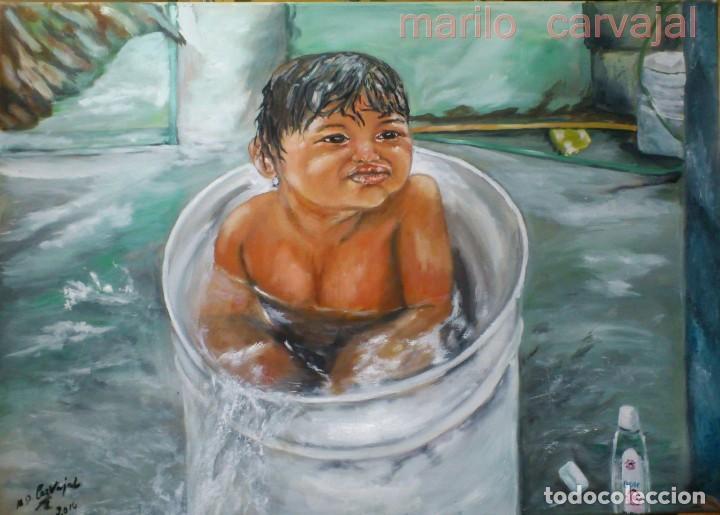 EL BAÑITO (Arte - Pintura - Pintura al Óleo Contemporánea )