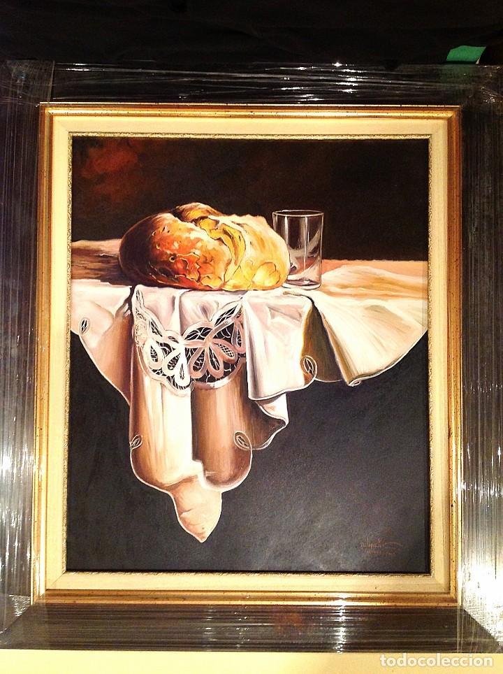 ÓLEO DEL PINTOR P. LOPEZ MIR MEDIDAS 88X77CM (Arte - Pintura - Pintura al Óleo Moderna sin fecha definida)