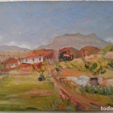 Arte: OLEO SOBRE TABLA FIRMADO PAISAJE. Lote 80435757