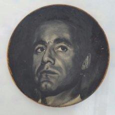 Arte: RETRATO OLEO SOBRE MADERA - FIRMADO - 1964 - 29,5 CM. Lote 80630790