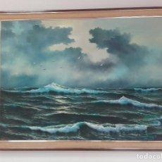 Arte: MARINA AL OLEO - J BASTIDA. Lote 80630806