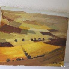 Arte: ÓLEO SOBRE LIENZO - BARENYS - CAMPOS DE MEDINACELI - SORIA - TARRAGONA - PINTOR CATALÁN. Lote 80767698
