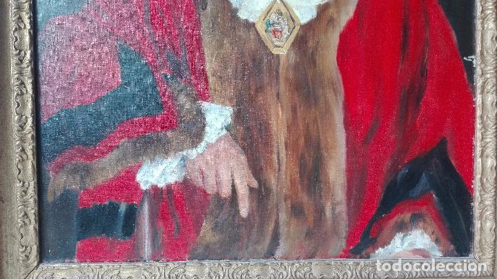 Arte: Cuadro Oleo sobre Tela de Gran dimensión. Lord Mayor of London - Sir Dennis. Firmado - Foto 3 - 80841823