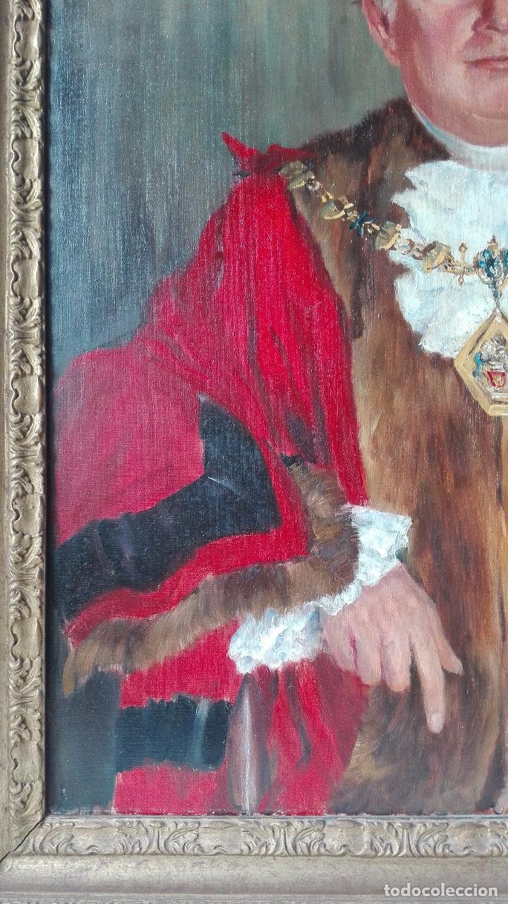 Arte: Cuadro Oleo sobre Tela de Gran dimensión. Lord Mayor of London - Sir Dennis. Firmado - Foto 7 - 80841823