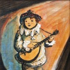 Arte: CHE DURAN (TORREMOLINOS), PRECIOSA PINTURA VINTAGE MÚSICO, FIRMADA.. Lote 80851042