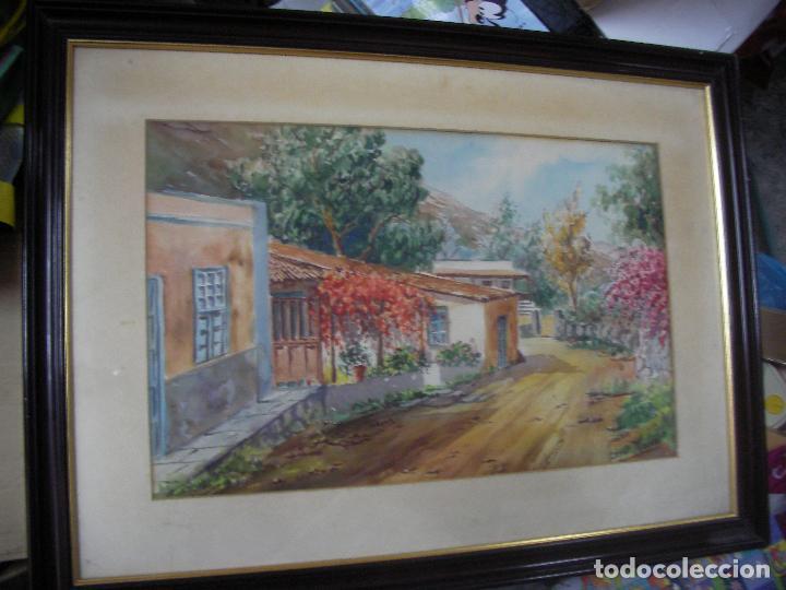 ANTIGUO CUADRO ACUARELA DE LOPEZ MORENO (Arte - Pintura - Pintura al Óleo Antigua sin fecha definida)