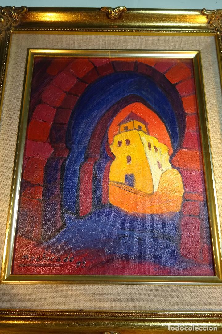 IMPORTANTE OLEO SOBRE LIENZO FIRMADA POR EL PINTOR PERUANO JUAN DE LA CRUZ MACHICADO - (Arte - Pintura - Pintura al Óleo Contemporánea )