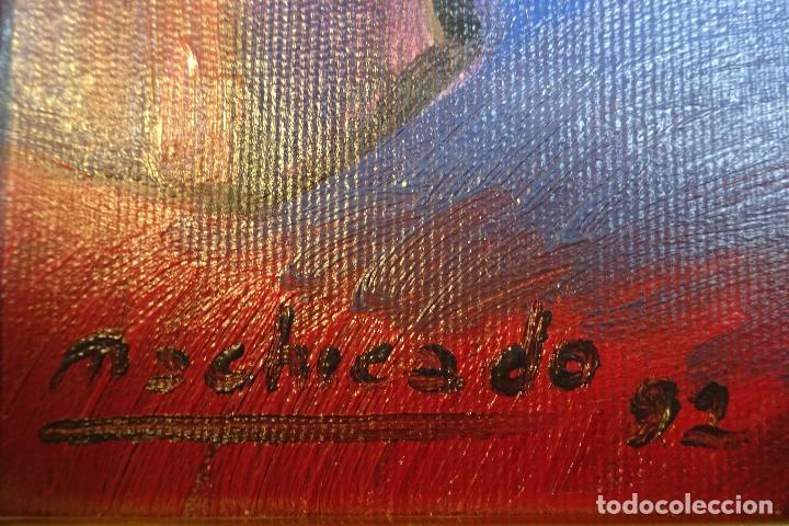 Arte: IMPORTANTE OLEO SOBRE LIENZO FIRMADA POR EL PINTOR PERUANO JUAN DE LA CRUZ MACHICADO - - Foto 3 - 80942768