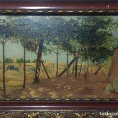 Arte: OLEO SOBRE TABLA AÑO 1914. Lote 81047431