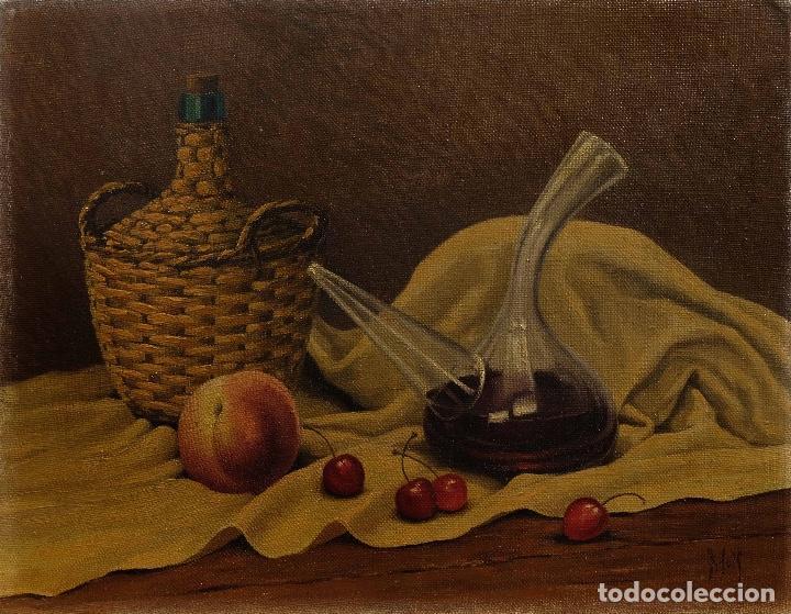 JUAN LUÍS DOMINGUEZ BODEGÓN MEDIADOS SIGLO XX FIRMADO (Arte - Pintura - Pintura al Óleo Contemporánea )