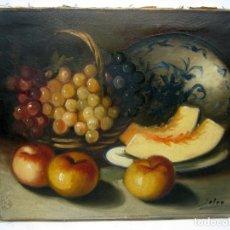 Arte: BODEGON S.XIX - ANTIGUA PINTURA AL OLEO SOBRE LIENZO FIRMADO. Lote 81232428