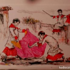 Arte: PINTOR TAURINO. JOSE LOPEZ CANITO. Lote 134447685
