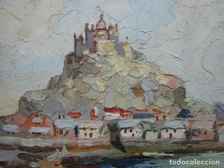 Arte: Antigua pintura inglesa al oleo paletilla - firmada - Monte St Michael Cornwall Inglaterra - Foto 2 - 81563588