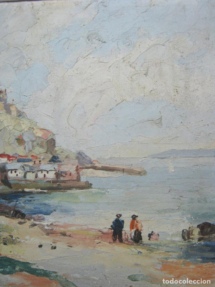 Arte: Antigua pintura inglesa al oleo paletilla - firmada - Monte St Michael Cornwall Inglaterra - Foto 4 - 81563588
