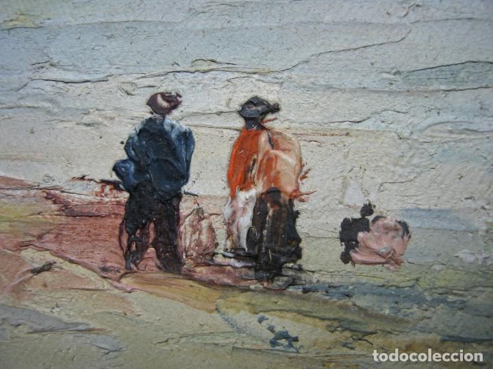 Arte: Antigua pintura inglesa al oleo paletilla - firmada - Monte St Michael Cornwall Inglaterra - Foto 5 - 81563588