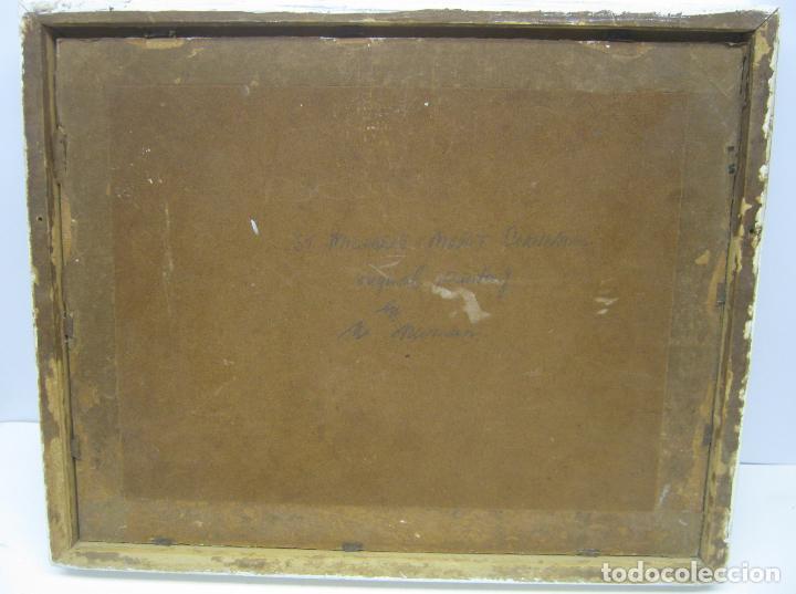 Arte: Antigua pintura inglesa al oleo paletilla - firmada - Monte St Michael Cornwall Inglaterra - Foto 8 - 81563588