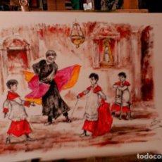 Arte: OLEO, SOBRE PAPEL. JOSE LOPEZ CANITO. Lote 134447719