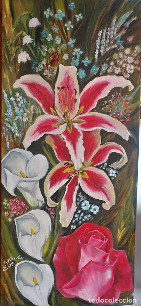 FLORES NATURALES 90*40 CM ORIGINAL (Arte - Pintura - Pintura al Óleo Contemporánea )