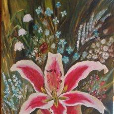 Arte: FLORES NATURALES 90*40 CM ORIGINAL. Lote 81609376