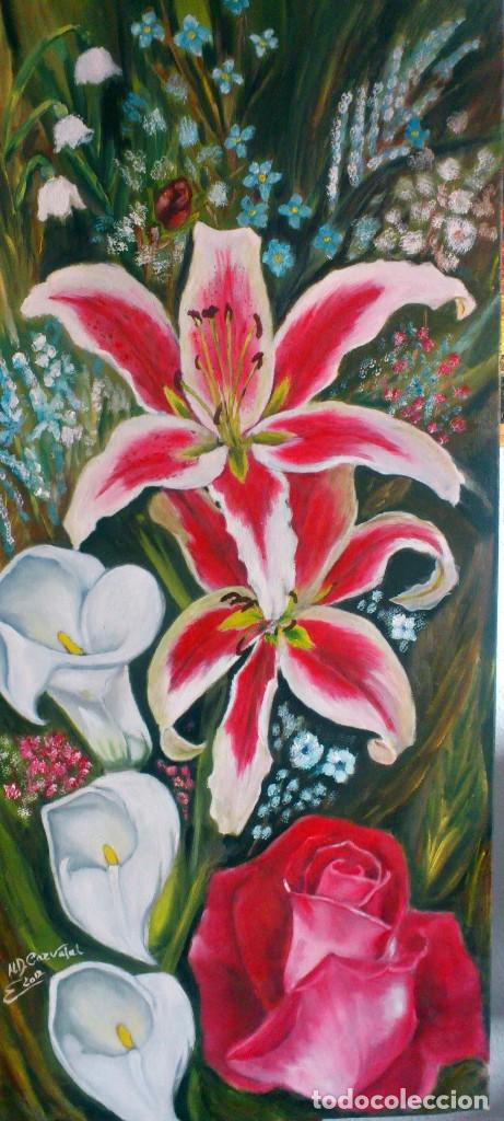 Arte: Flores naturales 90*40 cm original - Foto 2 - 81609376
