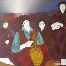 Arte: XOSE TELMO LODEIRO. (VIGO 1930-1996) O CESTEIRO.. Lote 81655480