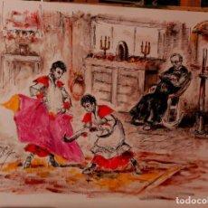 Arte: OLEO, SOBRE PAPEL. JOSE LOPEZ CANITO. Lote 134447845