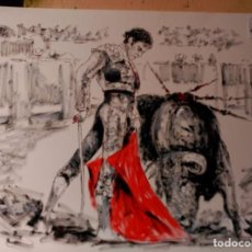 Arte: OLEO, SOBRE PAPEL. JOSE TOMAS. Lote 134447806
