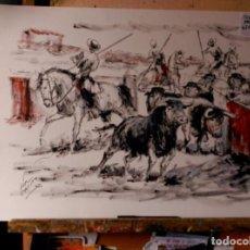 Arte: OLEO, SOBRE PAPEL. JOSE LOPEZ CANITO. Lote 81716168