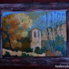 Arte: ÓLEO SOBRE TÁBLEX.FIRMA ILEGIBLE.BUEN TRAZO Y BIEN ENMARCADO. Lote 81720692